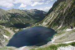 Tatra mountains. Climbing for the highest peak in Polish mountains stock photos