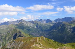Tatra mountains on August 2014. View of Tatra mountains (Poland) on AUGUST 2014 Stock Photos