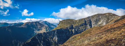 Tatra Mountains in autumn. Tatra Mountain on Czerwone Wierchy, one of the most beautiful autumn trails Royalty Free Stock Images