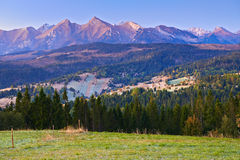 Tatra Mountains Carpathians Landscape Poland Stock Photo