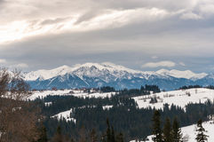 Tatra Mountains on a cloudy day Royalty Free Stock Photo