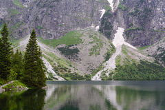 Tatra mountains. Lake Morskie Oko at the Tatra National Park, Zakopane, Poland stock photo