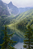 Tatra mountains. Lake Morskie Oko at the Tatra National Park, Zakopane, Poland Stock Images