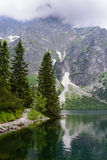 Tatra mountains. Lake Morskie Oko at the Tatra National Park, Zakopane, Poland Royalty Free Stock Photography