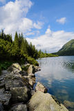 Tatra mountains. Lake Morskie Oko at the Tatra National Park, Zakopane, Poland Stock Image