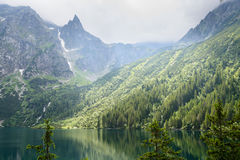 Tatra mountains. Lake Morskie Oko at the Tatra National Park, Zakopane, Poland stock photography