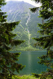 Tatra mountains. Lake Morskie Oko at the Tatra National Park, Zakopane, Poland royalty free stock photo