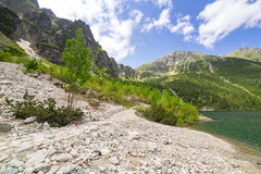 Tatra mountains and lake in Poland Royalty Free Stock Photography