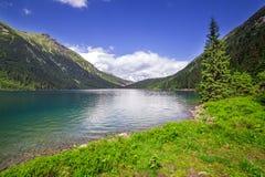 Tatra mountains and lake in Poland Royalty Free Stock Photo