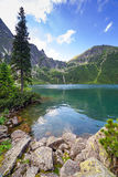 Tatra mountains and lake in Poland Stock Image