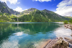 Tatra mountains and lake in Poland Royalty Free Stock Images
