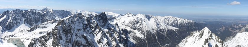 The Tatra Mountains Panorama Royalty Free Stock Photos