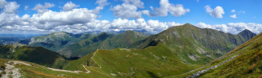 Tatra Mountains panorama Royalty Free Stock Images