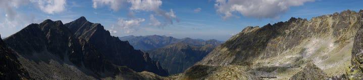 Tatra Mountains. Panorama photo from the Tatra Mountains Stock Photo