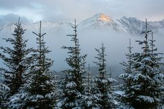 Tatra mountains panorama. Stock Photo