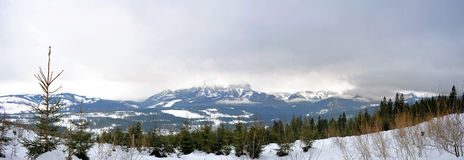 The Tatra mountains panoramic view Royalty Free Stock Photos