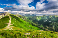 Tatra Mountains peaks in sunny day Stock Photography