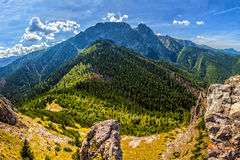 Tatra mountains in Poland. Tatra Mountains with Mt Giewont, one of the best known summit in the Polish mountains Stock Photos