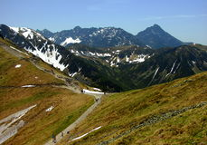 Tatra mountains in Poland, near city Zakopane Royalty Free Stock Photo