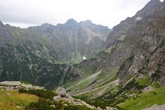 Tatra Mountains - Rysy peak Royalty Free Stock Photo