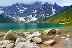 Tatra Mountains scenery stones lake beautiful nature Carpathian Royalty Free Stock Photography