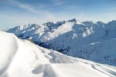 Tatra Mountains. A scenic winter landscape in the Tatra Mountains, Poland Stock Photo