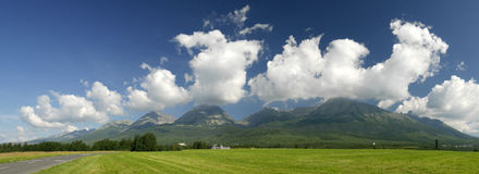 Tatra mountains - Slovakia. Panorama of Slovak Tatra mountains Royalty Free Stock Images