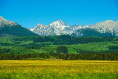 Tatra Mountains. Slovakia Side  Summer Scenery. Scenic Carpathian Mountains. Slovakia, Europe Stock Photos