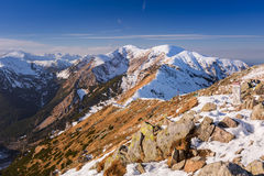 Tatra mountains in snowy winter time Stock Images