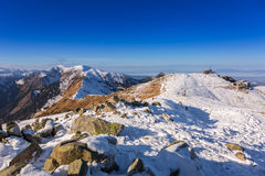 Tatra mountains in snowy winter time Stock Photo