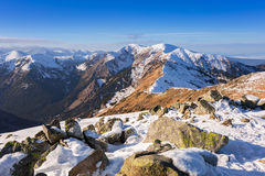 Tatra mountains in snowy winter time Royalty Free Stock Images