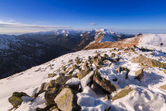 Tatra mountains in snowy winter time Royalty Free Stock Photo