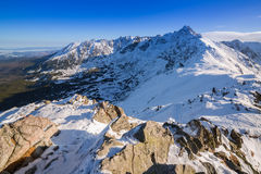 Tatra mountains in snowy winter time Royalty Free Stock Photos