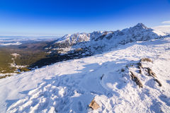 Tatra mountains in snowy winter time Stock Photography