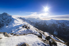 Tatra mountains in snowy winter time Royalty Free Stock Image