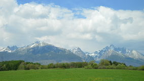 Tatra Mountains. The spectacular Tatra Mountains in May 2014, as I saw it on my way to Zakopane Royalty Free Stock Image