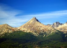 The Tatra Mountains in Summer. A view of The Tatra Mountains in summer, Slovakia Royalty Free Stock Images