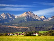 The Tatra Mountains in Summer royalty free stock images