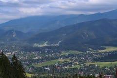 Tatra Mountains and the town of Zakopane Royalty Free Stock Photos