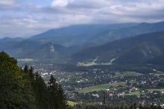 Tatra Mountains and the town of Zakopane Stock Images