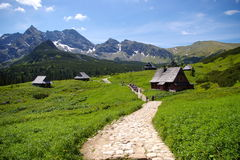 Tatra Mountains. Trail in the Tatra Mountains in Poland Stock Photos