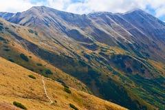 The Tatra Mountains from Trzydniowianski Wierch Stock Image