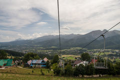 Tatra Mountains View Lift in Poland Stock Photo