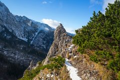 Tatra mountains view from the top of Sarnia Skala Stock Photography