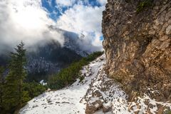 Tatra mountains view from the top of Sarnia Skala Stock Image