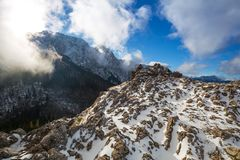 Tatra mountains view from the top of Sarnia Skala Royalty Free Stock Image