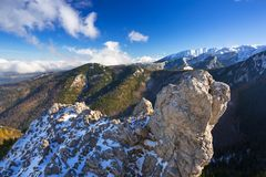 Tatra mountains view from the top of Sarnia Skala Royalty Free Stock Photo