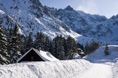 Tatra Mountains in winter scenery Stock Photos