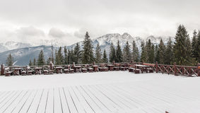 Tatra Mountains in winter Stock Image