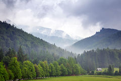 Tatra mountains in Zakopane at cloudy day Stock Photo